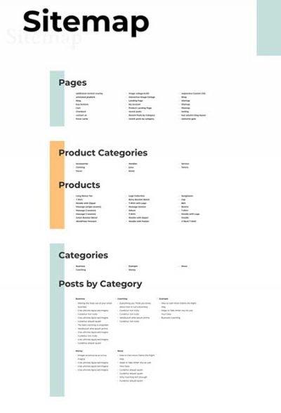 Divi sitemap template