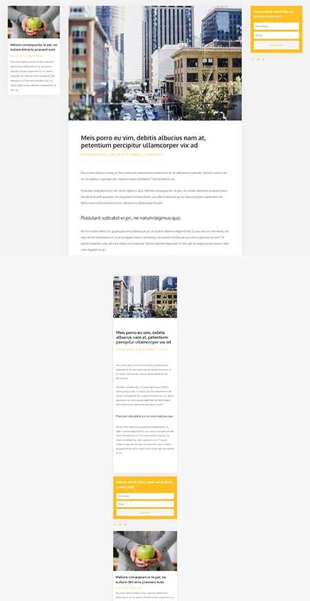 Divi theme builder blog template