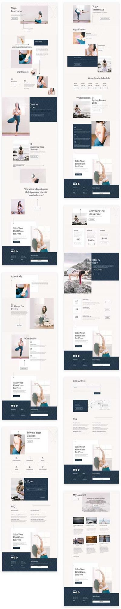 Divi yoga instructor layout pack