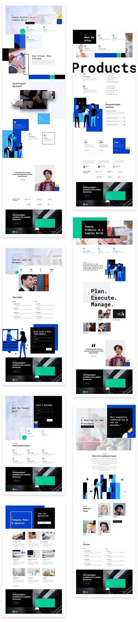 Startup website template