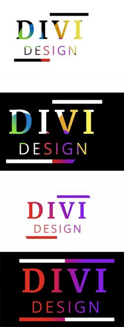 Divi animated text gradients