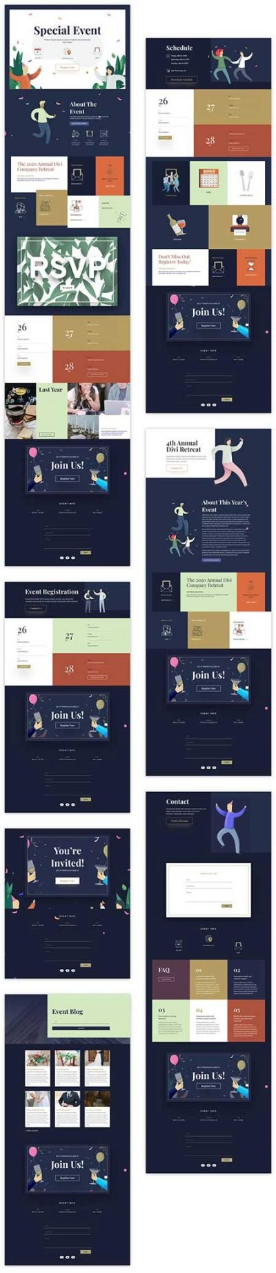 Divi events layout pack