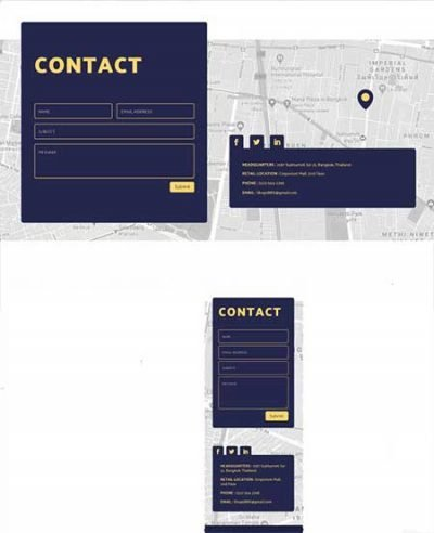 Divi floating contact form