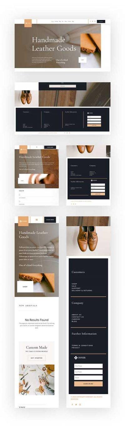 Divi header & Footer templates