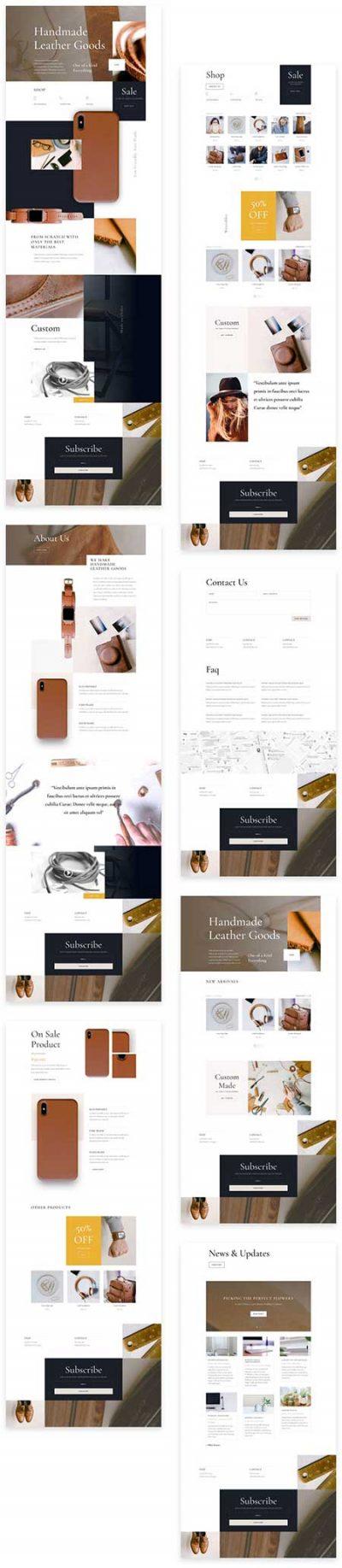 Divi leathercraft website template
