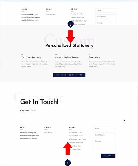 Divi popup footer layout