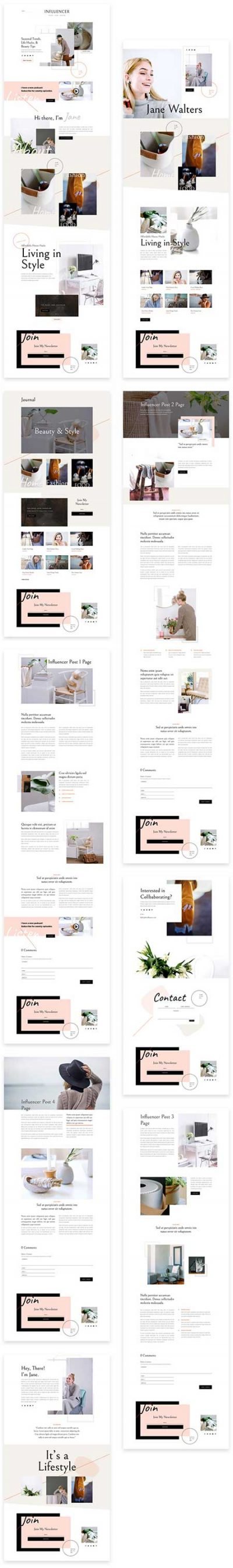 influencer website template