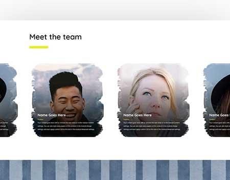 Divi team member carousel