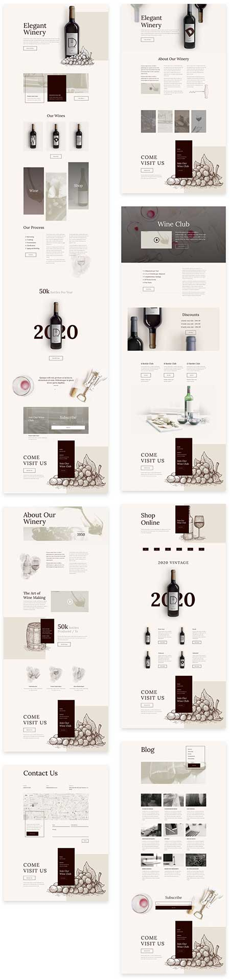 website template for winery