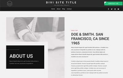 Divi text header