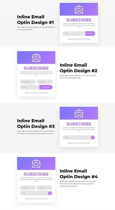 Divi inline email form