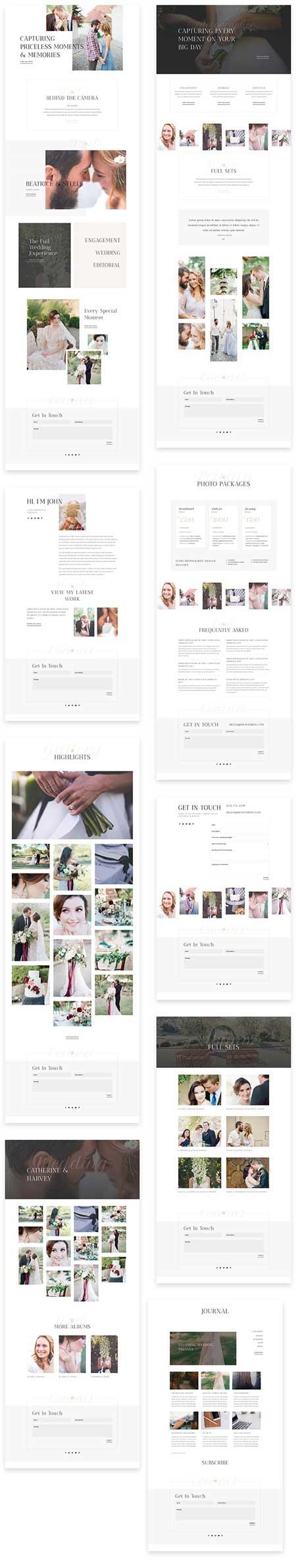 Divi wedding photography website template