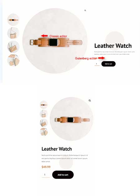 Divi woo product layout