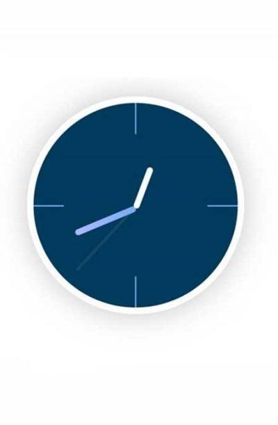 Divi animated clock layout