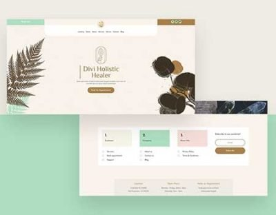 Divi healer header & footer