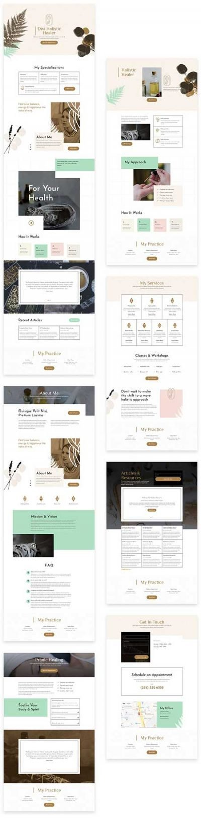 Divi holistic healer layouts