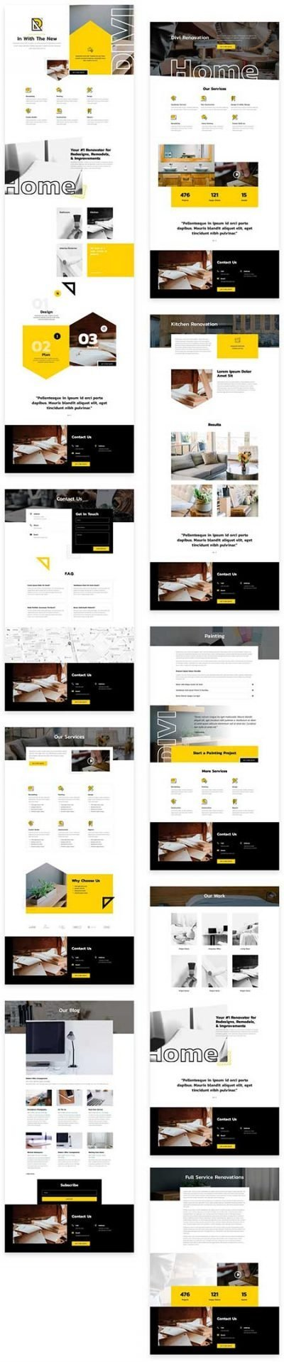 Divi home renovation website template
