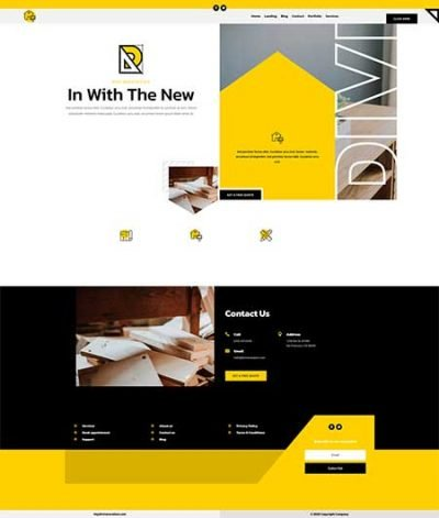 Home reno header anf footer templates