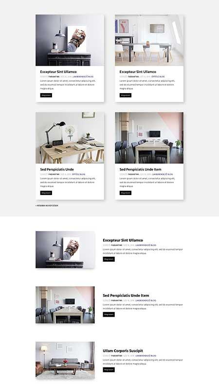Divi blog module layouts