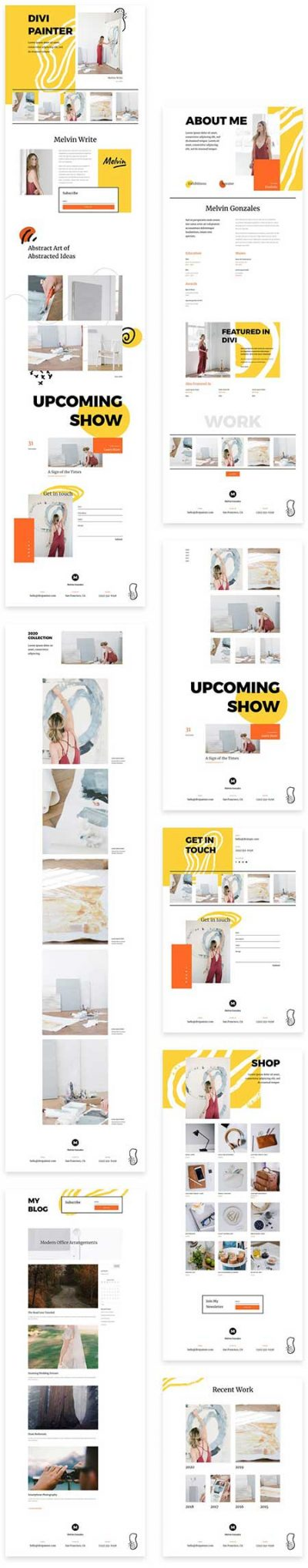 Divi artist painter template