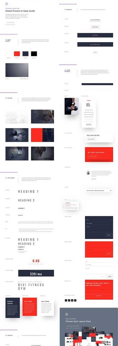 divi global presets layout