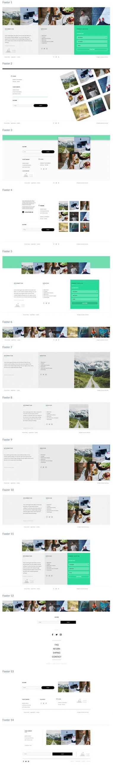 Divi Instagram footers