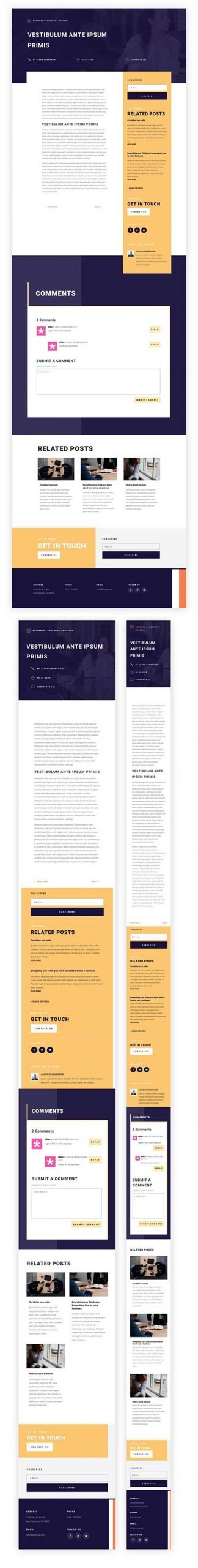 Divi PR firm blog post template