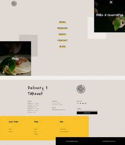 Divi italian header & footer layout