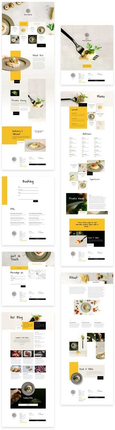 Divi Italian restaurant layout pack