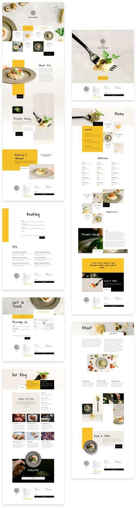 Divi Italian restaurant layout pack