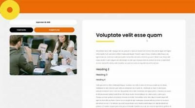 cowork Divi blog post template
