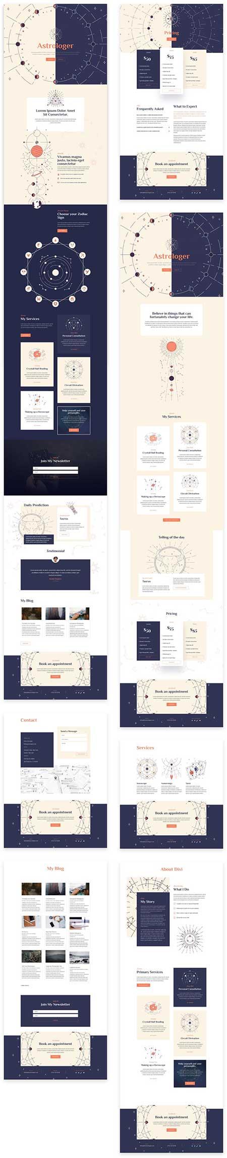 Divi astrologer layout pack