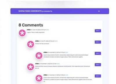 Divi blog comments toggle layout