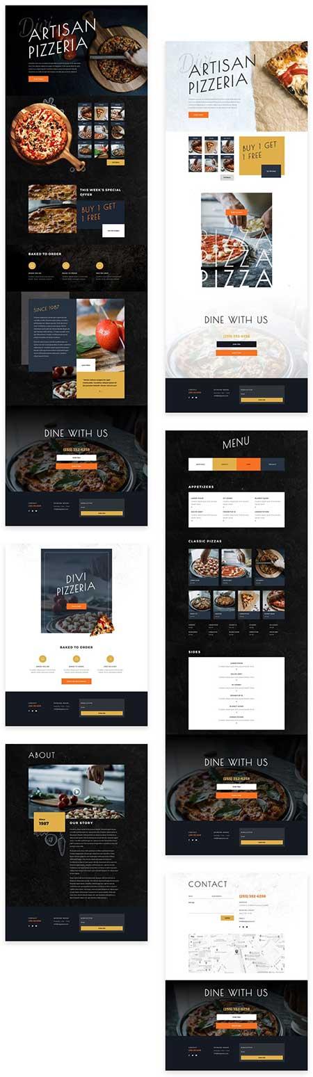 Divi restaurant layout pack