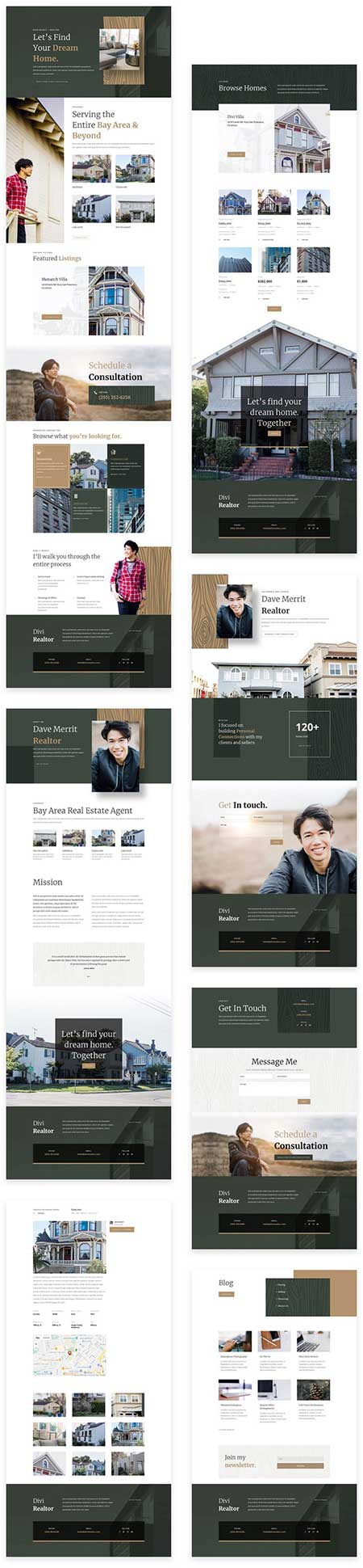 Divi realtor layout pack