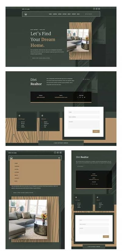 realtor header and footer template