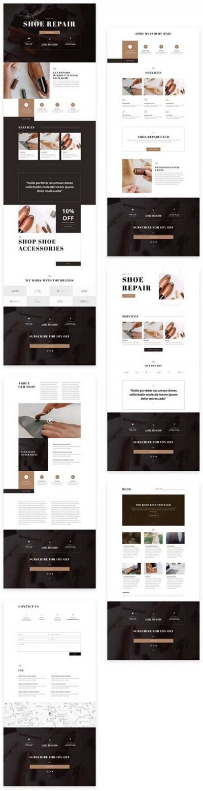 Divi cobblers website templates