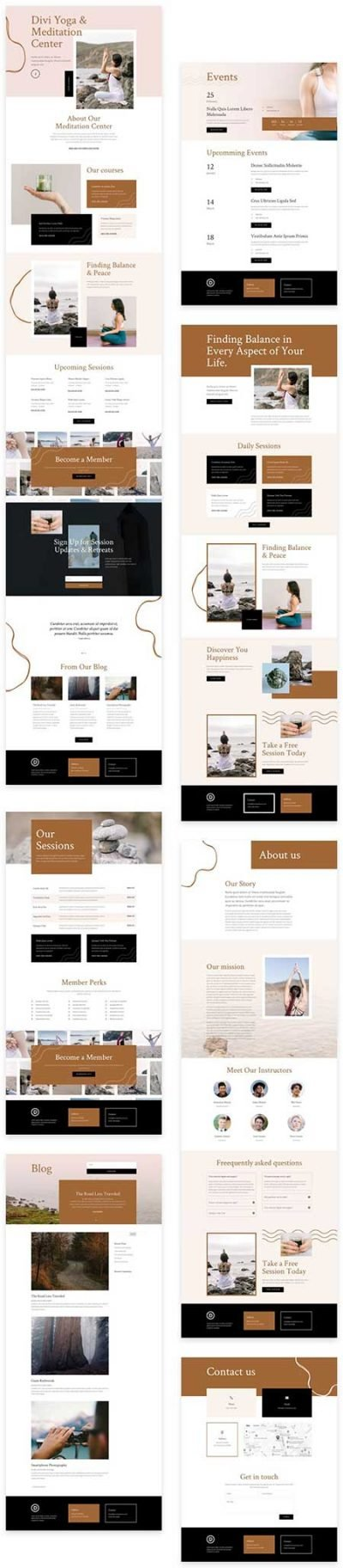 Divi meditation website template