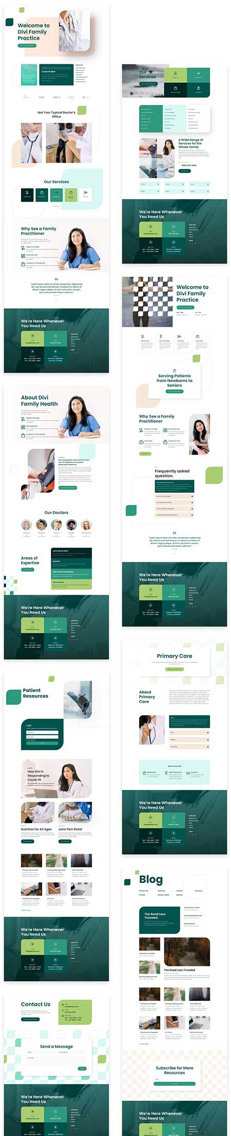 Doctors website template for Divi