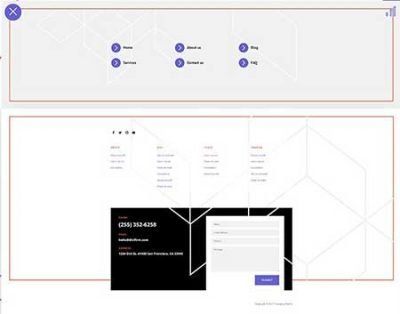Divi broker hader and footer