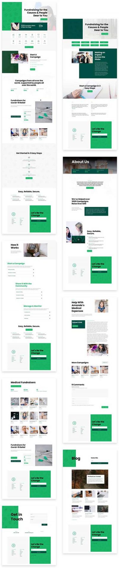 Divi crowdfunding layout