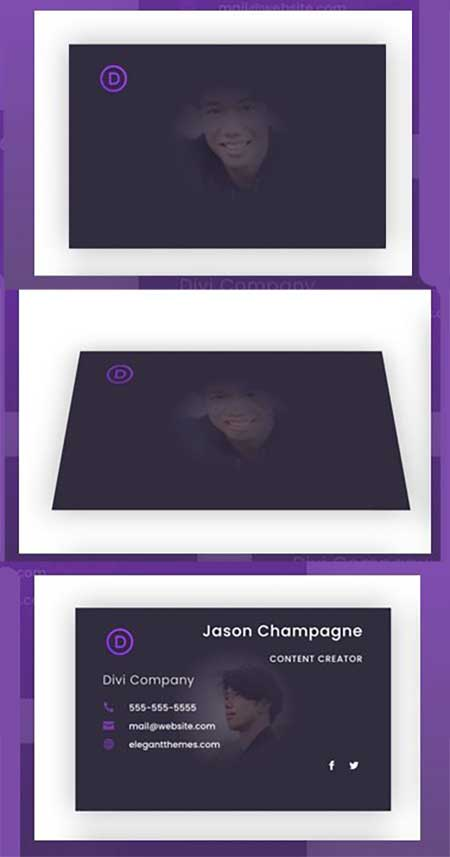 Divi person flip card