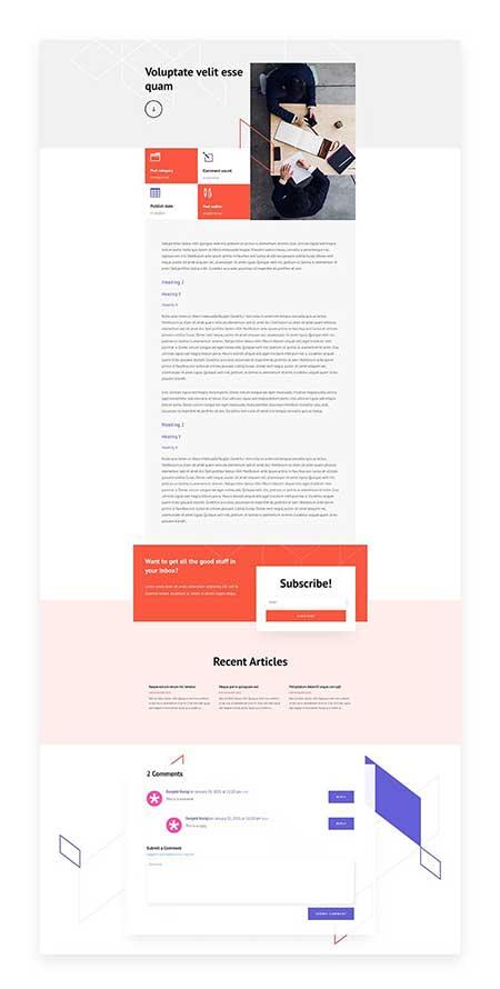 Divi stock broker blog post template