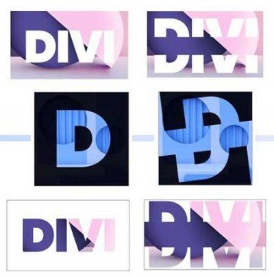 Divi animated split text