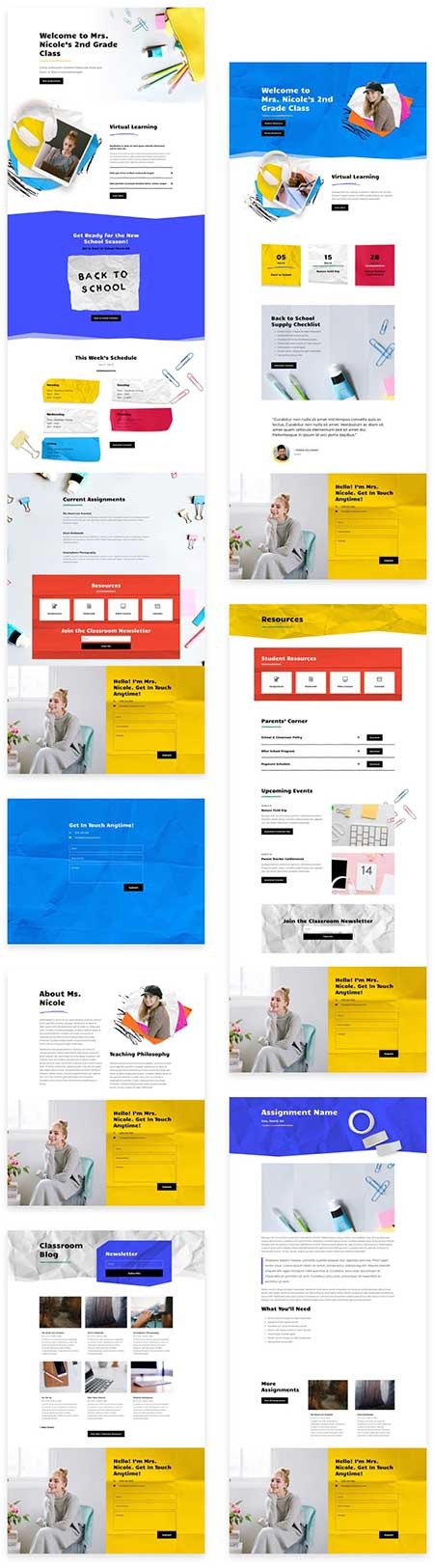 Divi classroom website template