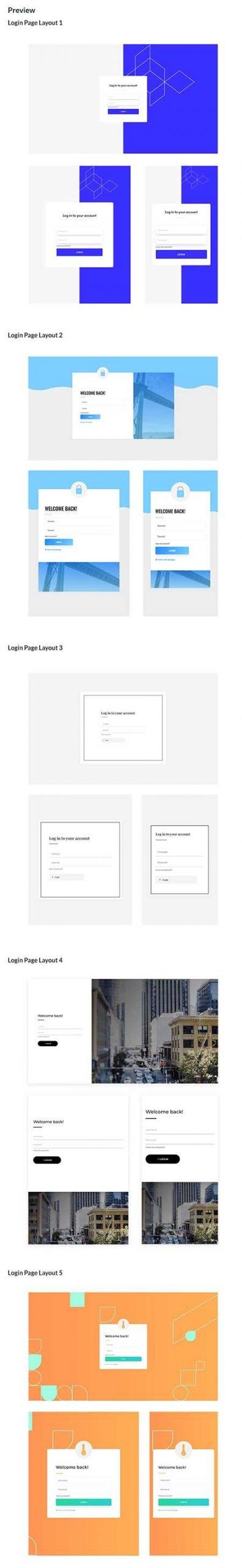 Divi custom login page template
