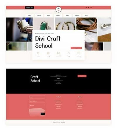 Divi header and footer for craft website