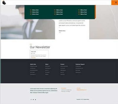 Divi loans header and footer template