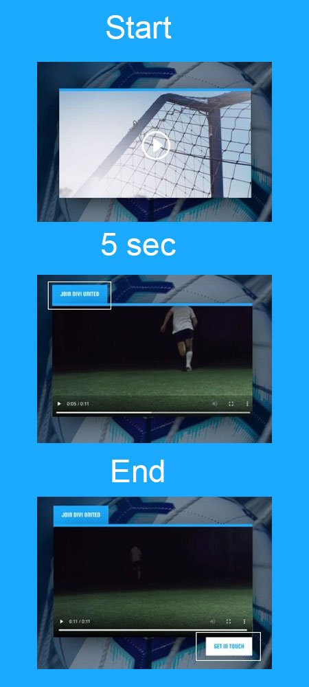 Divi Buttons When Playing Video