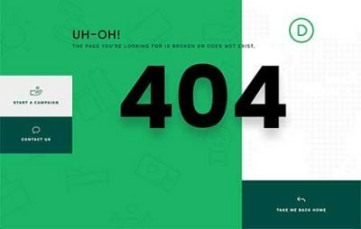 Divi 4040 page template download